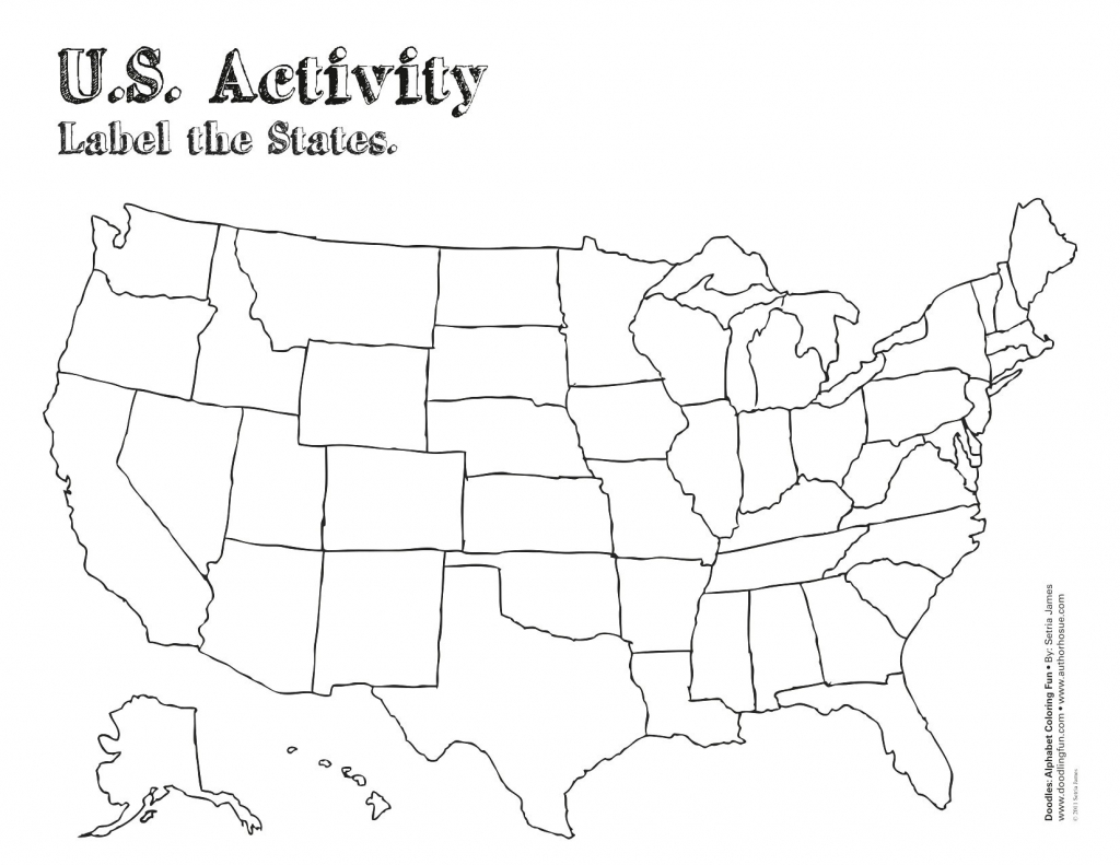 Label Map Of The Us Worksheet Blank Us Map Quiz Printable At Fill In - Blank Us Map Quiz Printable