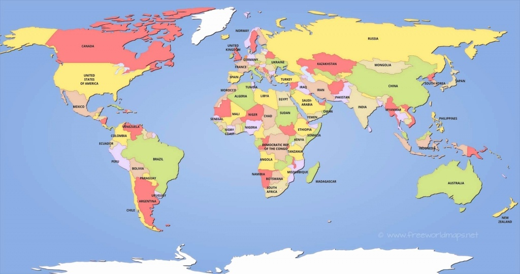 Labeled World Map Printable | Sitedesignco - Printable Labeled World Map
