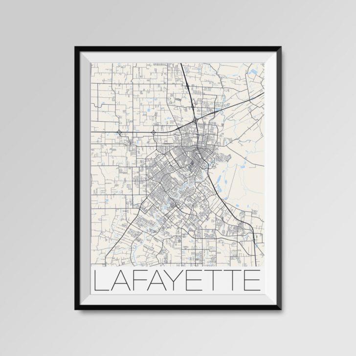 Printable Map Of Lafayette La