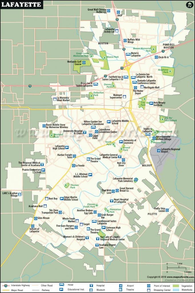 Lafayette Map |City Map Of Lafayette, Louisiana - Printable Map Of Lafayette La