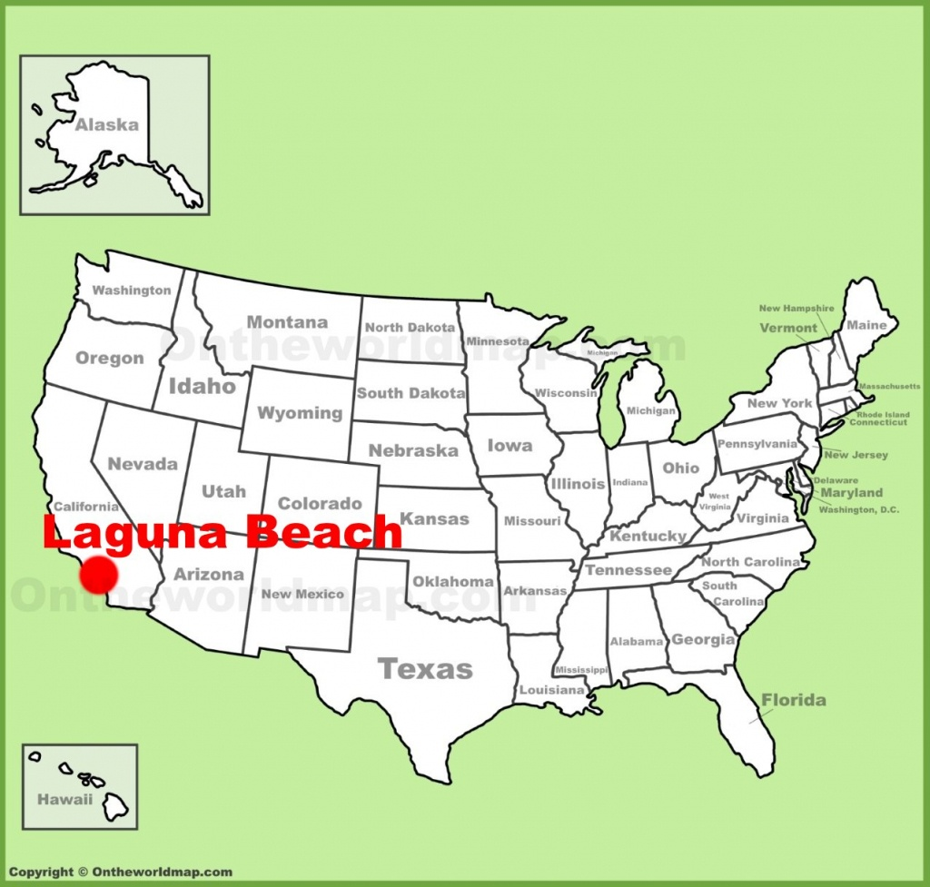 Laguna Beach Location On The U.s. Map - Laguna Beach California Map