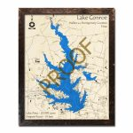 Lake Conroe, Texas 3D Wooden Map | Framed Topographic Wood Chart   Map Of Lake Conroe Texas