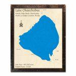 Lake Okeechobee, Fl Nautical Wood Maps   Lake Okeechobee Florida Map
