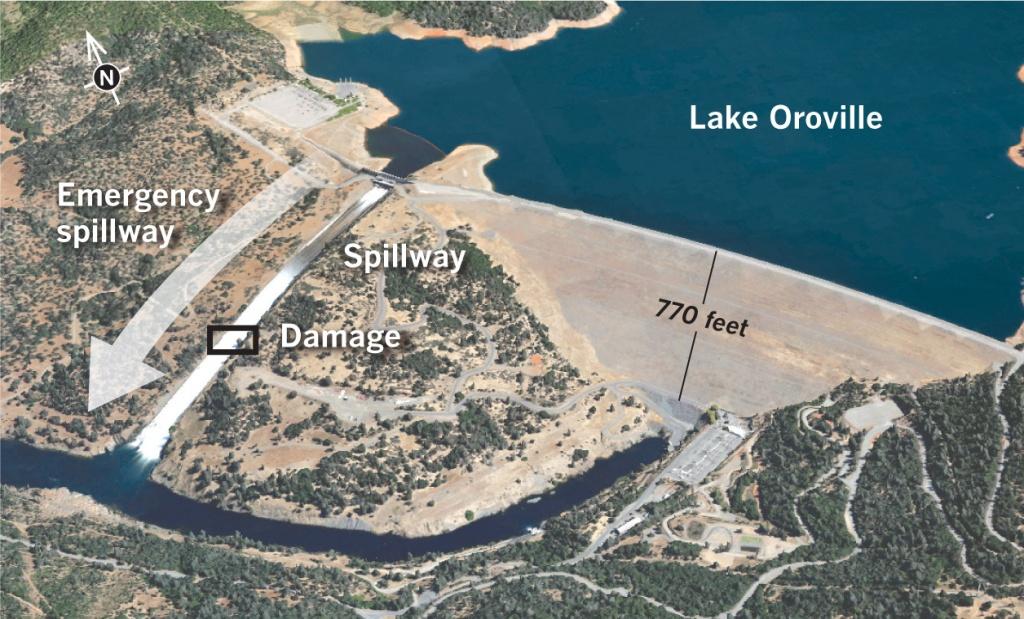 Lake Oroville Timeline: $100 Million In Damage, Evacuees Returning - Oroville California Google Maps