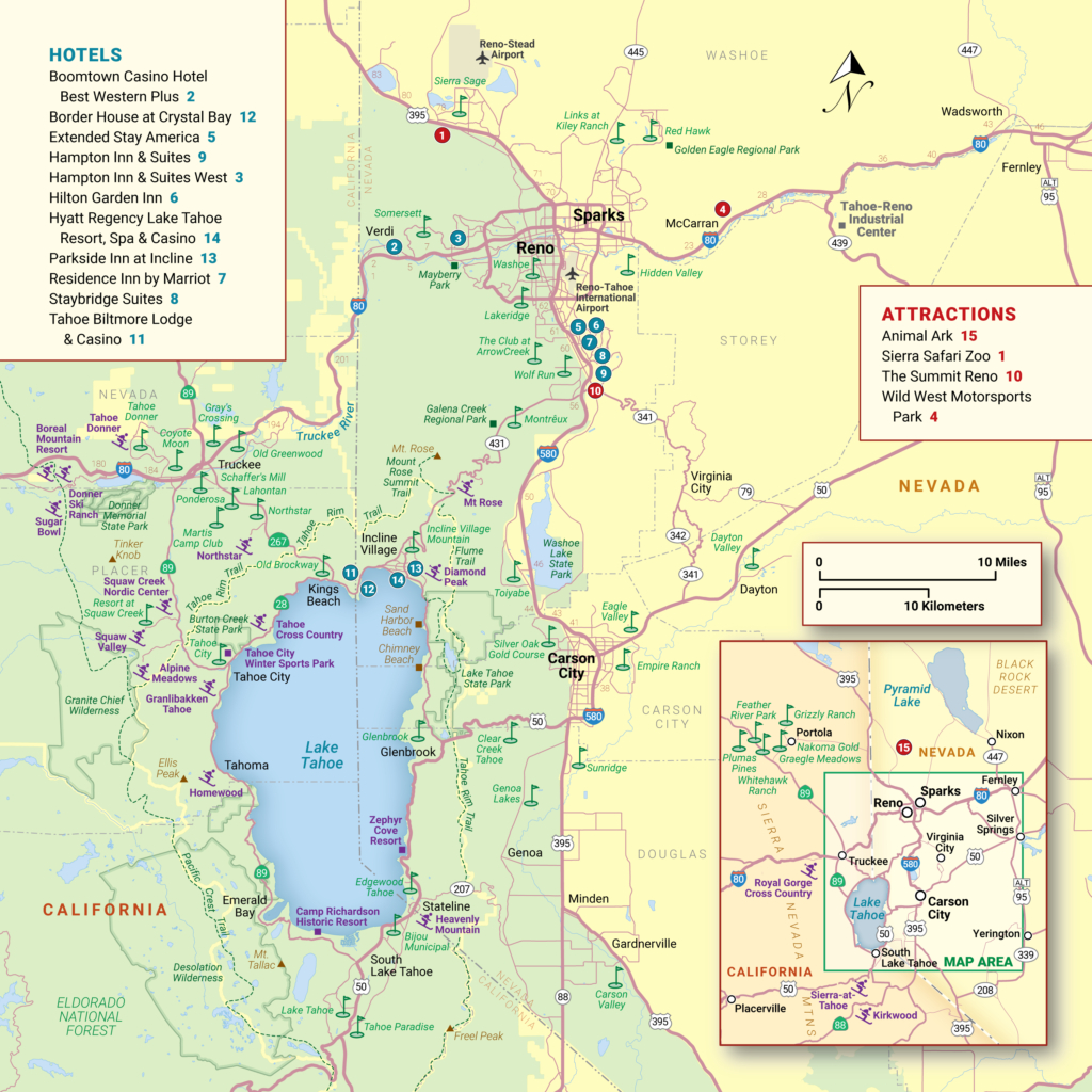 Lake Tahoe Maps And Reno Maps | Discover Reno Tahoe - Printable Map Of Lake Tahoe