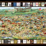 Laminated Texas Wine Map | Texas Wineries Map |Texas Hill Country   Fredericksburg Texas Winery Map