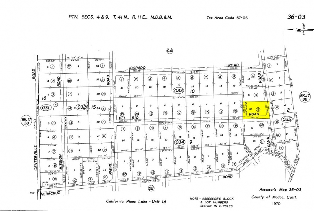 Land Rush Now   Land For Sale In California Pines – Dana Rd. Lake - California Parcel Map