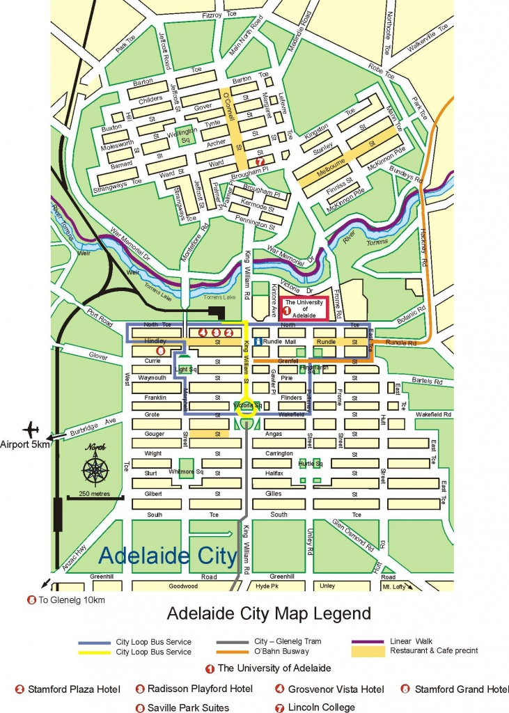 Large Adelaide Maps For Free Download And Print   High-Resolution - Printable Map Of Adelaide Suburbs