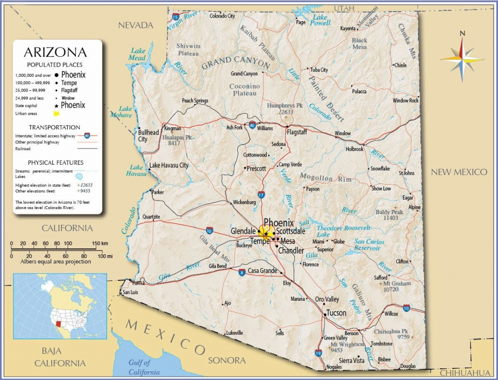 Large Arizona Maps For Free Download And Print   High-Resolution And - Printable Map Of Tucson Az