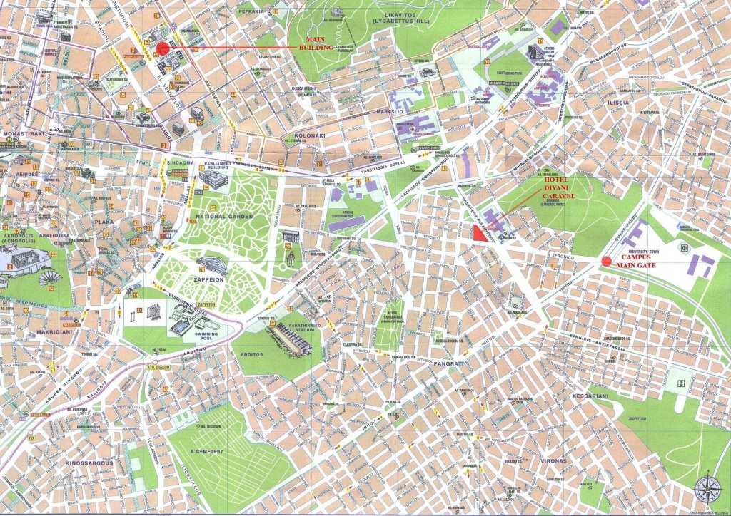 Large Athens Maps For Free Download And Print | High-Resolution And - Free Printable Aerial Maps