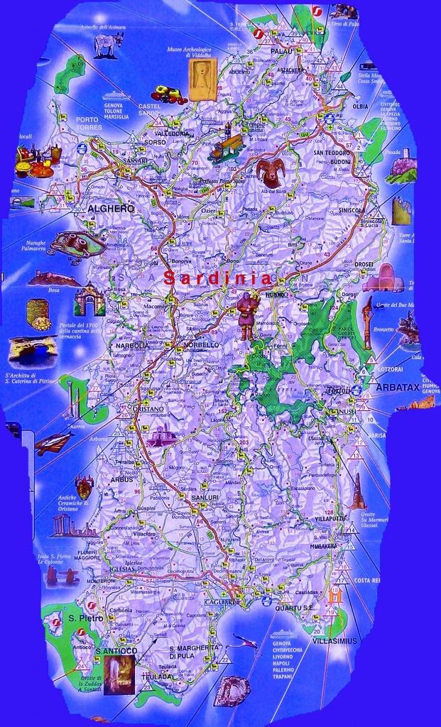 Large Baja Sardinia Maps For Free Download And Print   High - Printable Map Of Sardinia