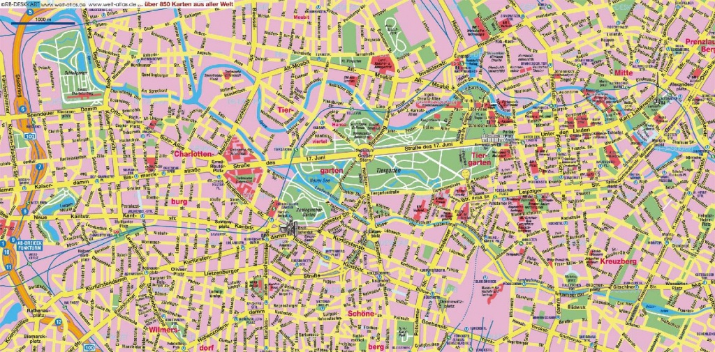 Large Berlin Maps For Free Download And Print   High-Resolution And - Printable Map Of Berlin
