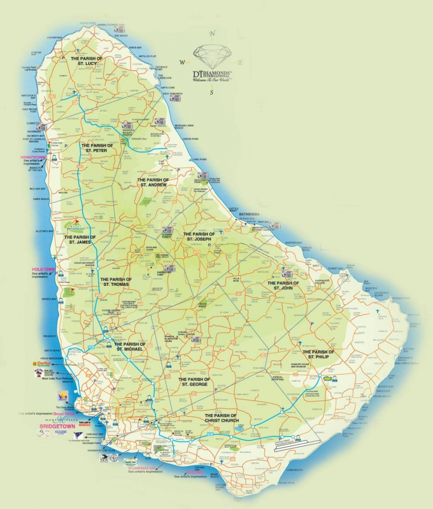 Large Bridgetown Maps For Free Download And Print   High-Resolution - Printable Map Of Barbados