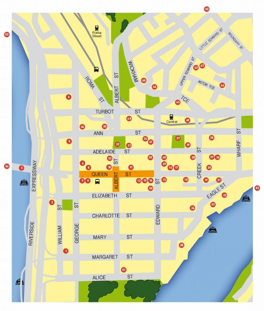 Large Brisbane Maps For Free Download And Print   High-Resolution - Brisbane City Map Printable