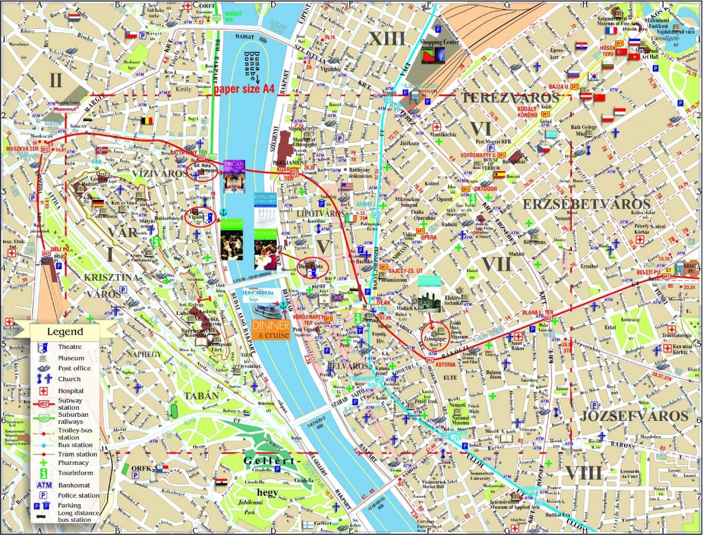Large Budapest Maps For Free Download And Print | High-Resolution - Budapest Street Map Printable