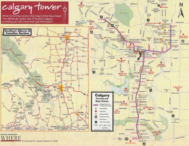 Printable Map Of Downtown Calgary