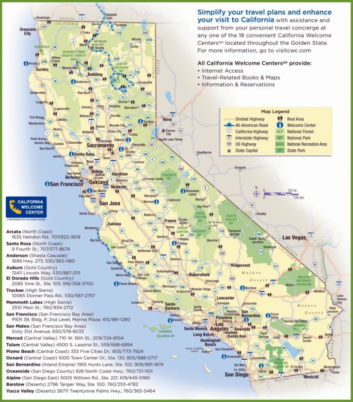 California Regions Map Printable