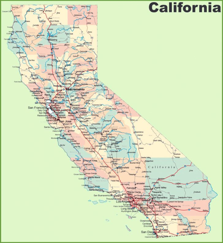 Printable Map Of Southern California