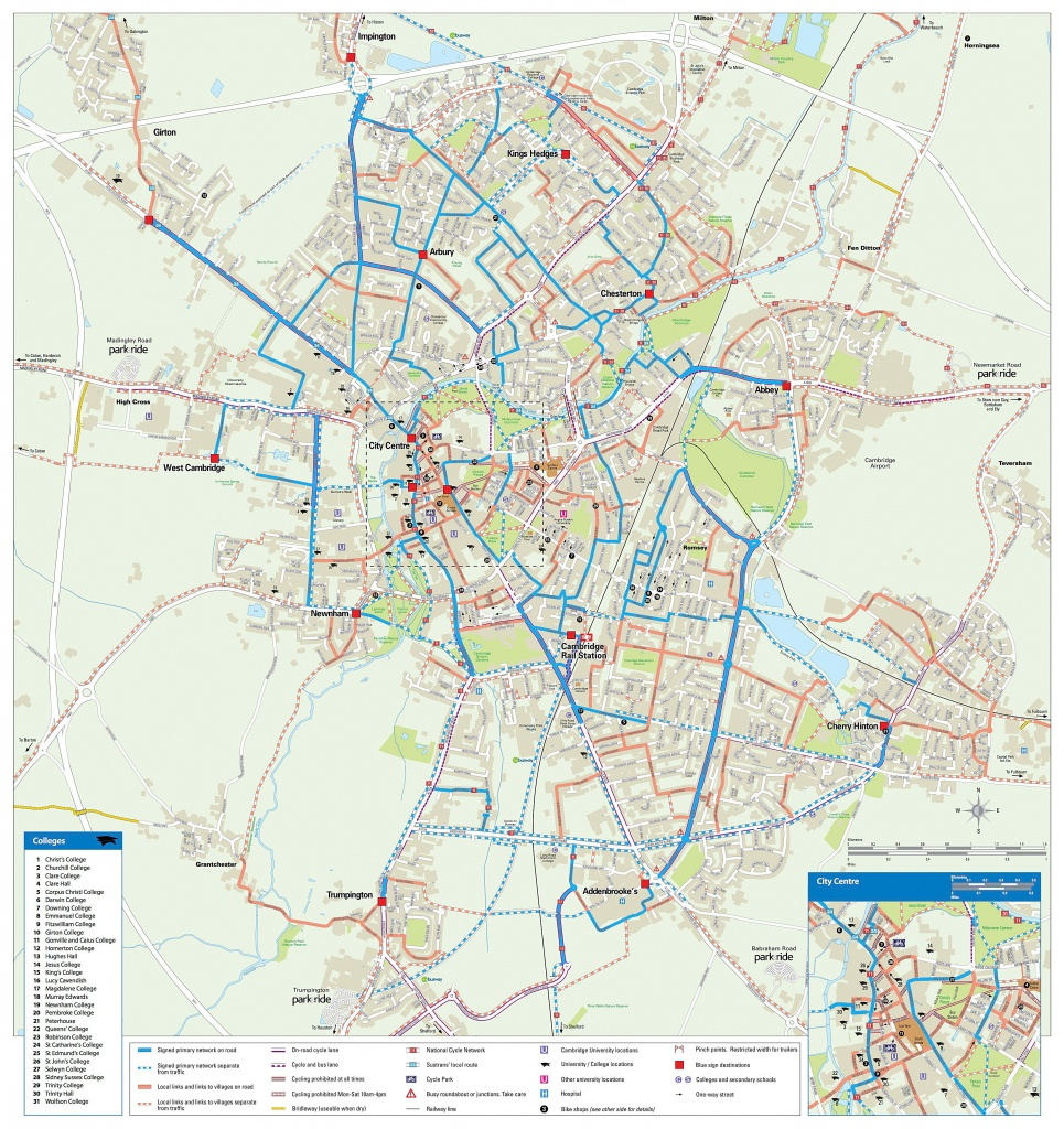 Large Cambridge Maps For Free Download And Print | High-Resolution - Cambridge Tourist Map Printable