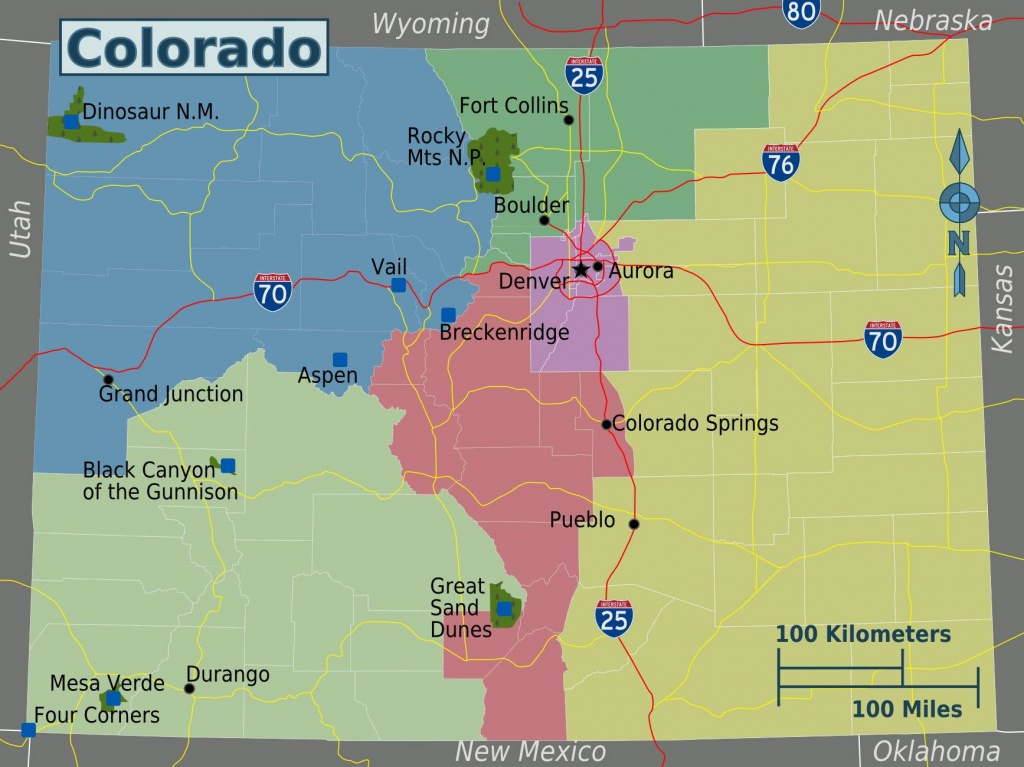 Large Colorado Maps For Free Download And Print   High-Resolution - Printable Map Of Colorado Springs