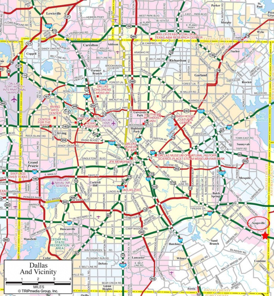Large Dallas Maps For Free Download And Print   High-Resolution And - Printable Map Of Fort Worth Texas