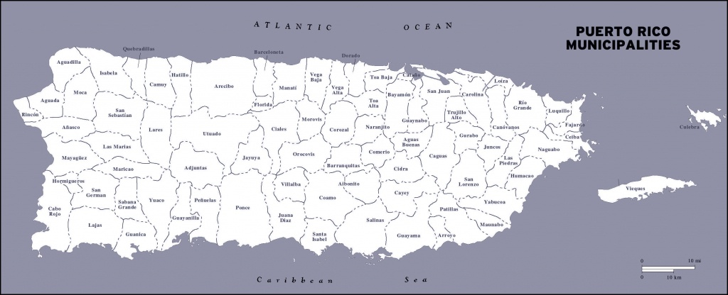 Large Detailed Administrative Map Of Puerto Rico. Puerto Rico Large - Printable Map Of Puerto Rico With Towns