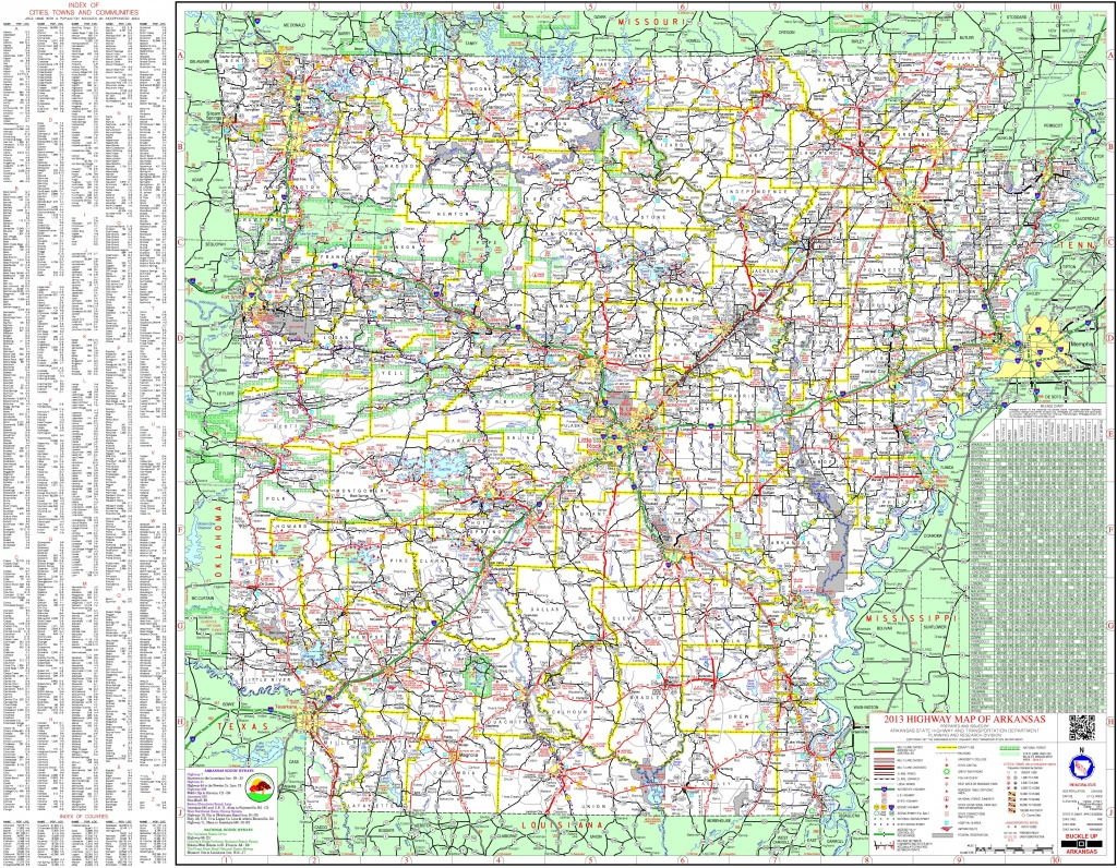 Large Detailed Map Of Arkansas With Cities And Towns - Printable Map Of Arkansas
