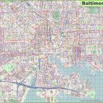 Large Detailed Map Of Baltimore - Printable Map Of Baltimore