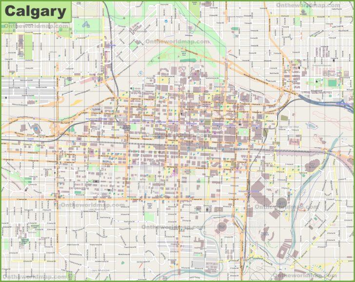 Printable Map Of Calgary