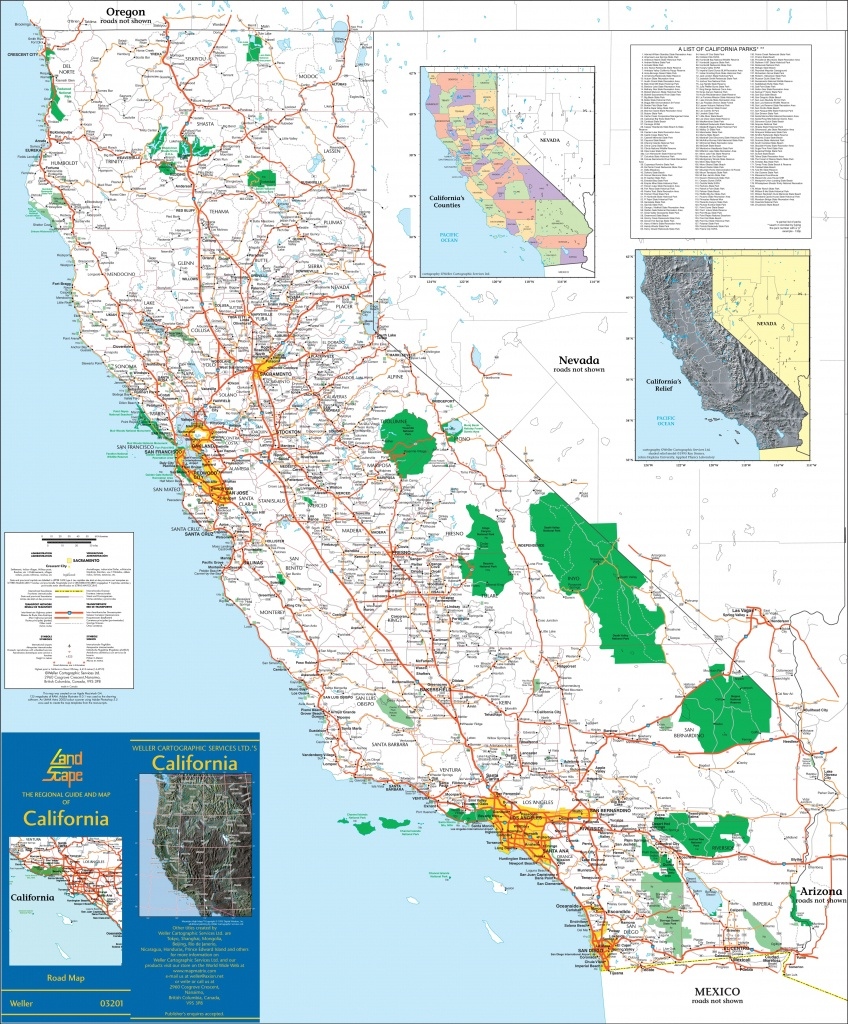Large Detailed Map Of California With Cities And Towns - Show Me A Map Of California