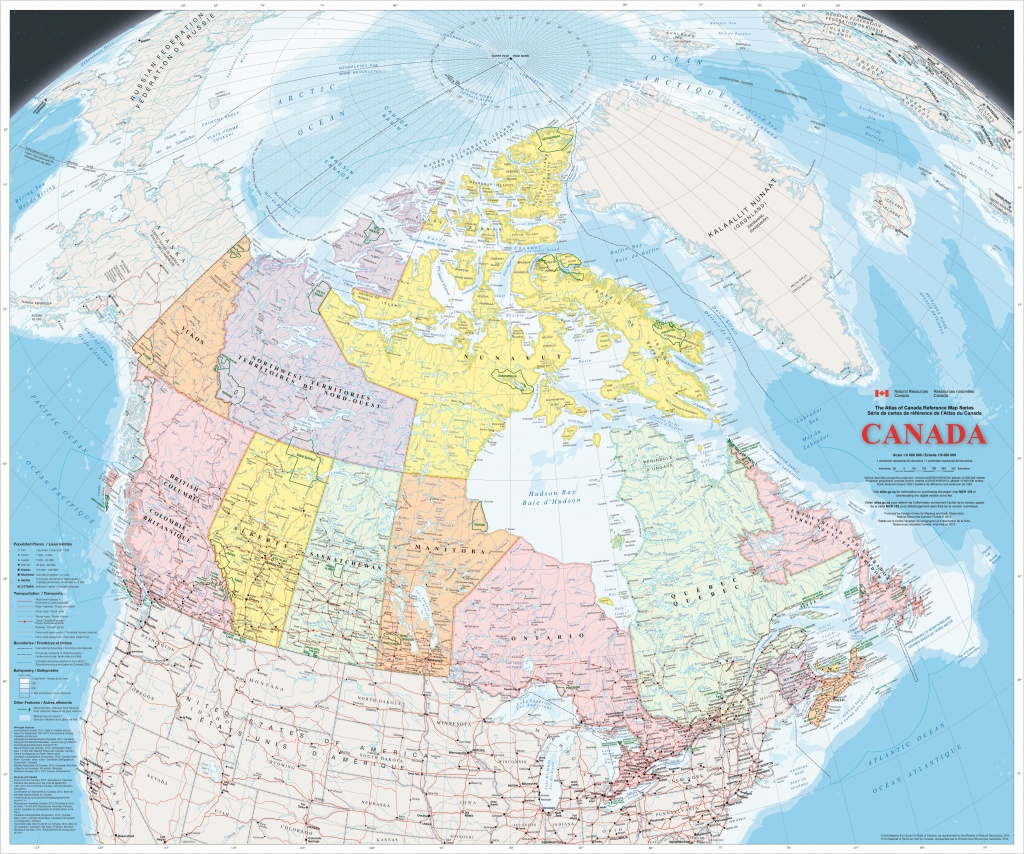 Large Detailed Map Of Canada With Cities And Towns - Printable Road Map Of Canada