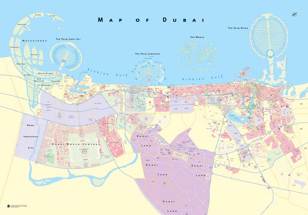 Large Detailed Map Of Dubai - Printable Map Of Dubai