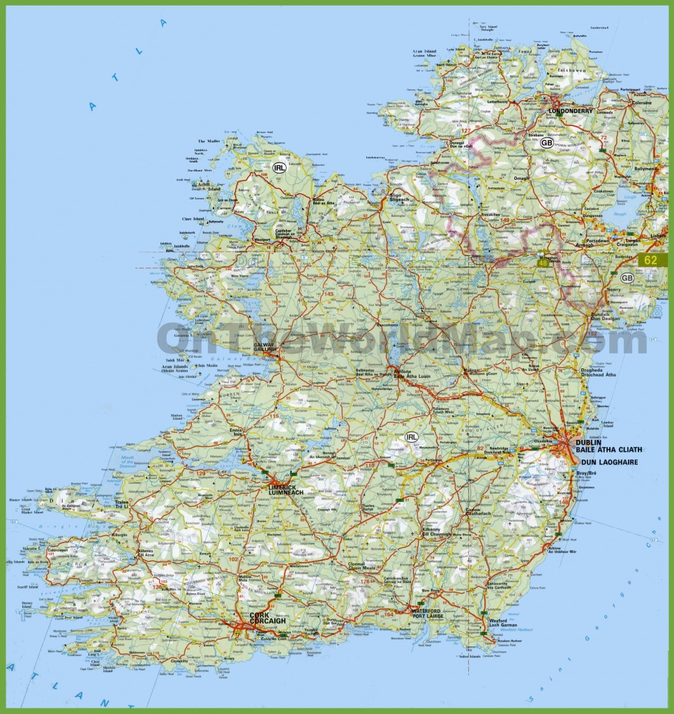 Large Detailed Map Of Ireland With Cities And Towns - Free Printable Map Of Ireland