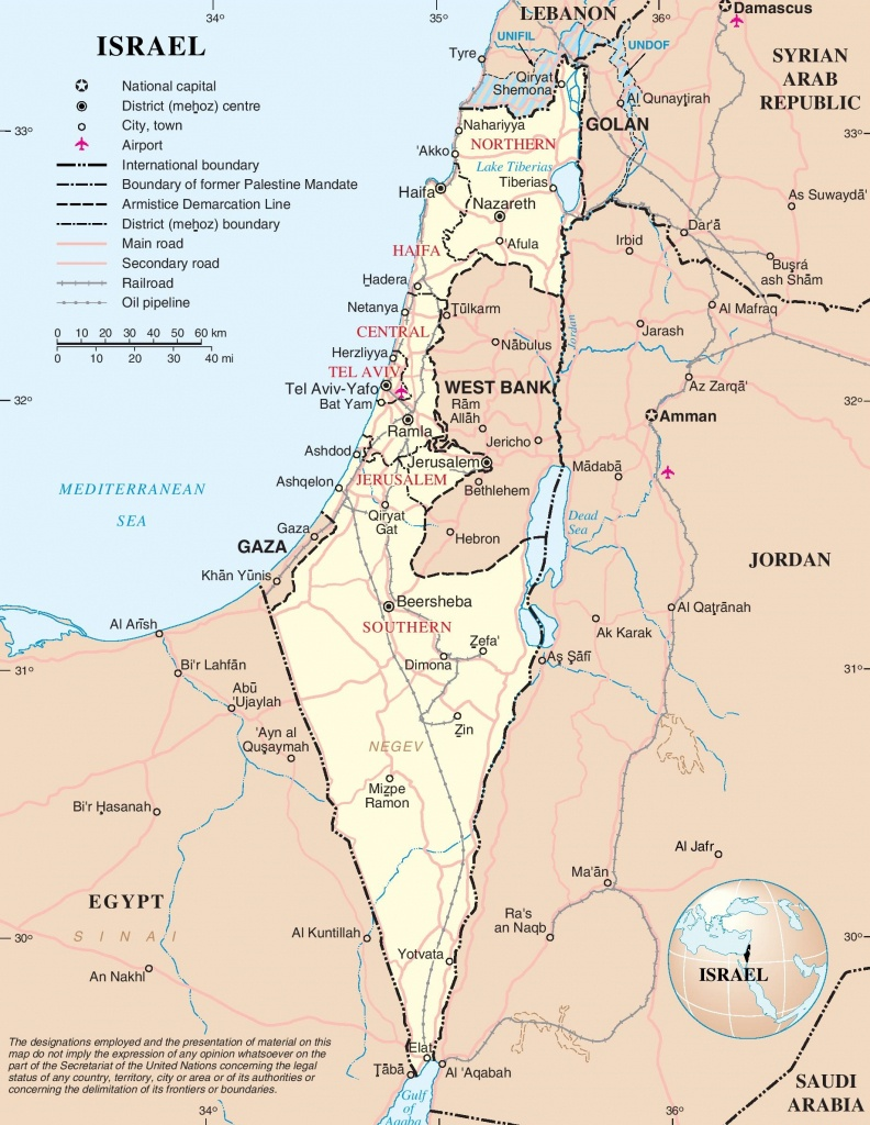 Large Detailed Map Of Israel - Printable Map Of Israel Today