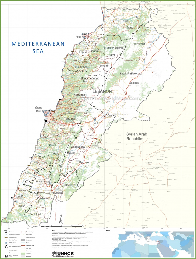 Large Detailed Map Of Lebanon - Printable Map Of Lebanon