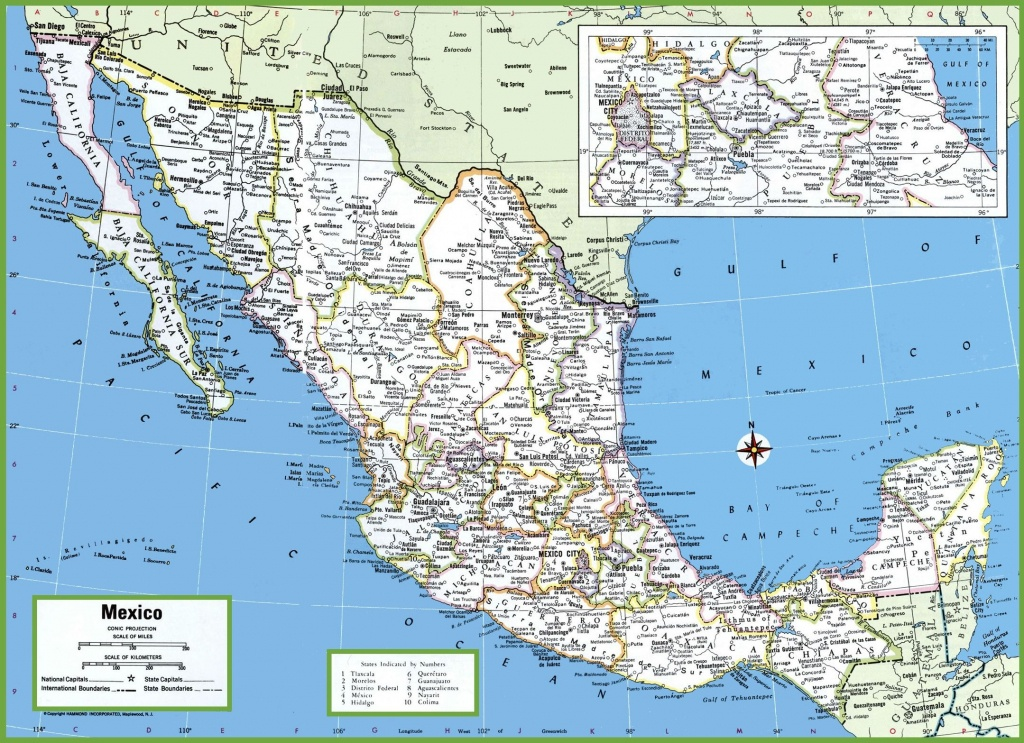 Large Detailed Map Of Mexico With Cities And Towns | Mexico | Map - Printable Map Of Mexico