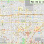Large Detailed Map Of Rancho Cucamonga   Rancho Cucamonga California Map