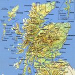 Large Detailed Map Of Scotland With Relief, Roads, Major Cities And   Printable Map Of Scotland With Cities
