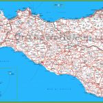 Large Detailed Map Of Sicily With Cities And Towns   Printable Map Of Sicily