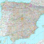 Large Detailed Map Of Spain With Cities And Towns   Printable Map Of Spain With Cities