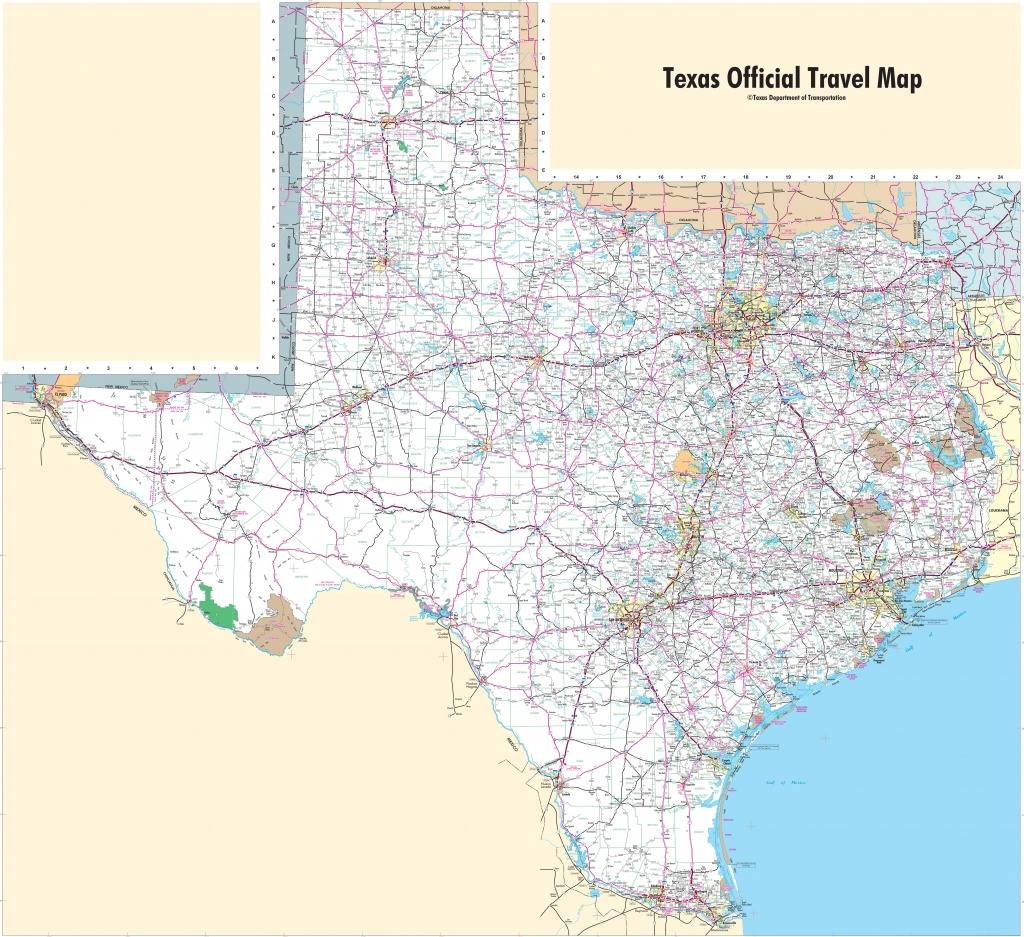 Large Detailed Map Of Texas With Cities And Towns - Official Texas Highway Map
