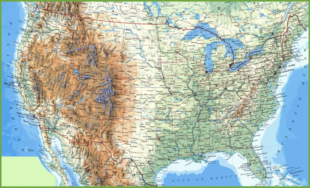 Large Detailed Map Of Usa With Cities And Towns - Printable Map Of Usa With Cities And States