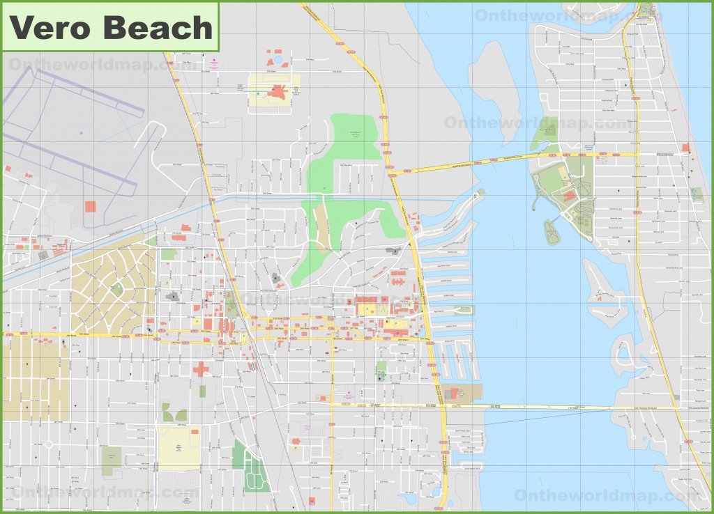 Large Detailed Map Of Vero Beach - Florida Street Map