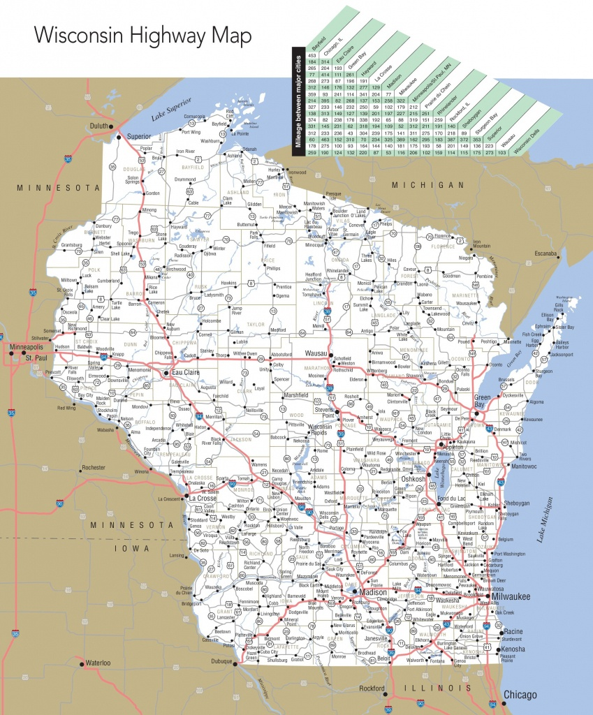 Large Detailed Map Of Wisconsin With Cities And Towns - Printable Map Of Wisconsin Cities