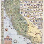 Large Detailed Old Illustrated Tourist Map Of California State   Illustrated Map Of California