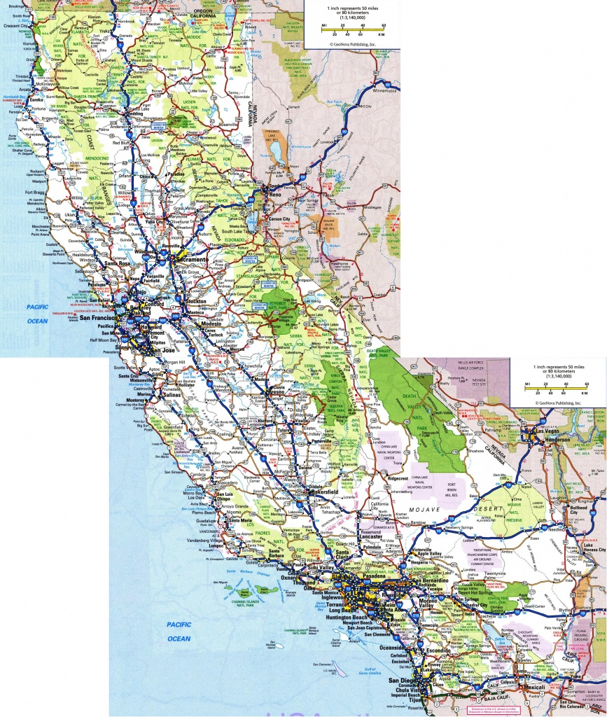 Large Detailed Road And Highways Map Of California State With All - California Map With All Cities