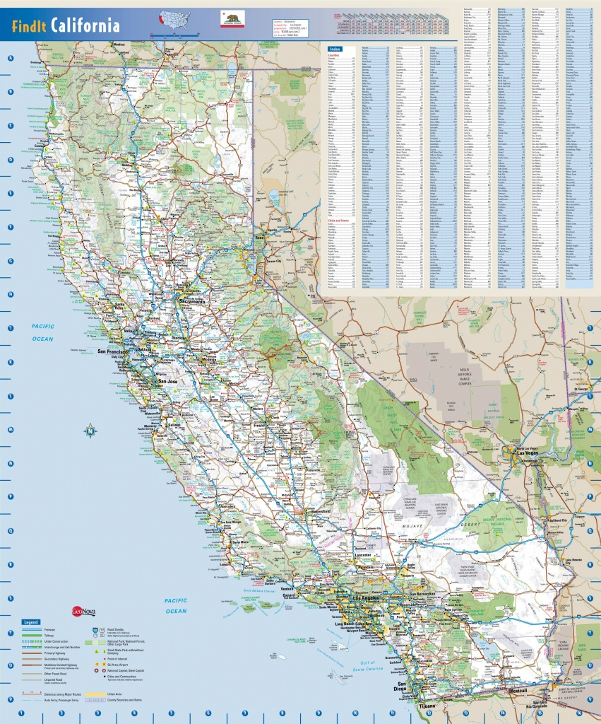 Large Detailed Road Map Of California State. California State Large - California Road Map