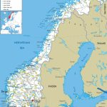 Large Detailed Road Map Of Norway With All Cities And Airports - Printable Map Of Norway With Cities