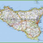 Large Detailed Road Map Of Sicily   Printable Map Of Sicily