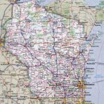 Large Detailed Roads And Highways Map Of Wisconsin State With All   Printable Map Of Wisconsin Cities